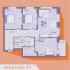 трёхкомнатная квартира в новостройке на Русская, 15 деревня Анкудиновка
