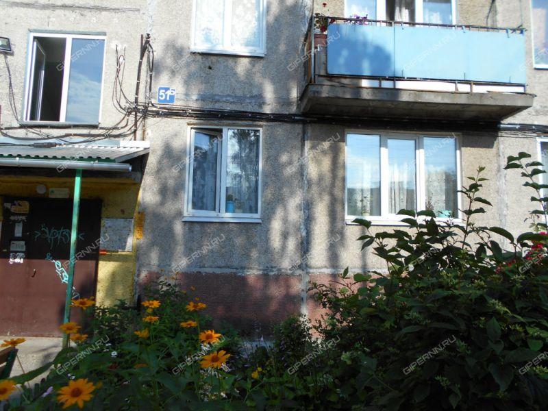 двухкомнатная квартира на проспекте Чкалова дом 51Б город Дзержинск