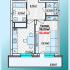 однокомнатная квартира в новостройке на ул. Александра Хохлова, Многоквартирный дом 1