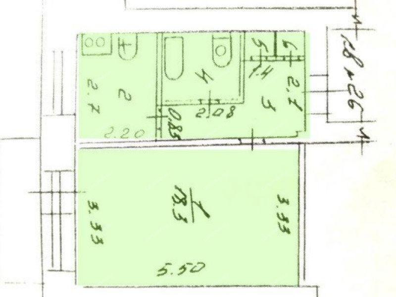однокомнатная квартира на улице Силкина дом 20 город Саров