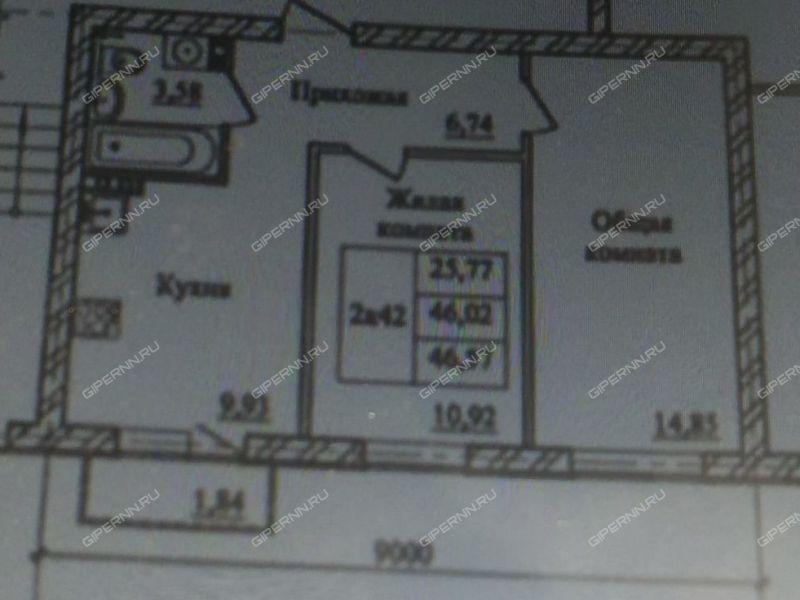 двухкомнатная квартира на Полевой улице дом 58