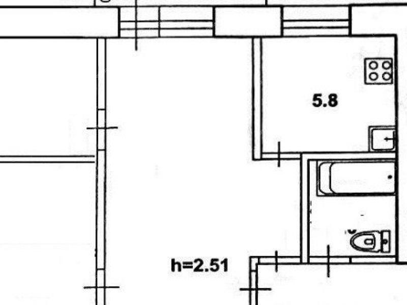 двухкомнатная квартира на улице Мичурина дом 6 город Заволжье