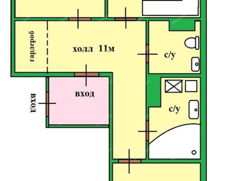 двухкомнатная квартира на улице Академика Сахарова дом 115