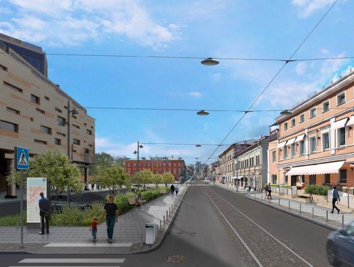 Новая улица Алексеевская: тротуары, деревья и городские гостиные